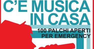 """""""C'è Musica in casa"""" con i 100 palchi per Emergency"""